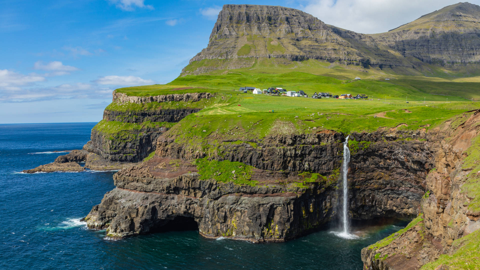 Custom Travel Planner Network-Faroe Islands-Mulafosser Waterfall