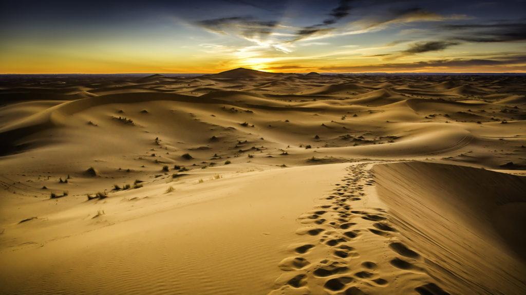 Custom Travel Planner Network-Morocco-Desert Sunset