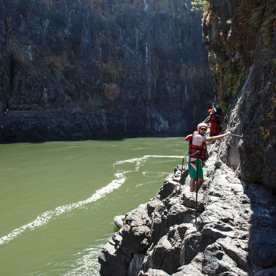 Custom-Travel-Planner-Network-5-Zambia-Canyoneering-on-River-Gorge-Zambezi River