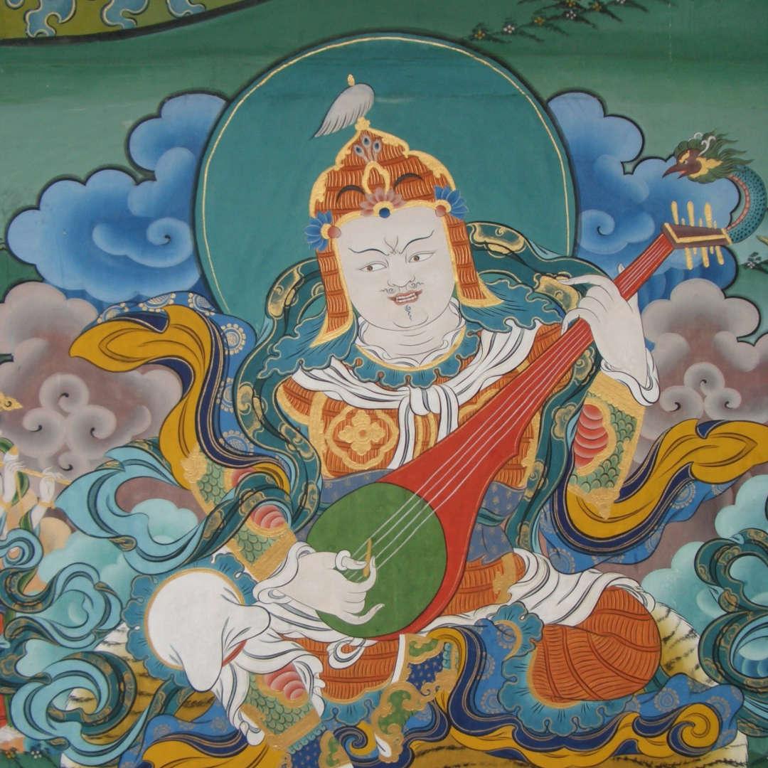 Custom Travel Planner Network-Bhutan - wall painting of Guru Rimpoche